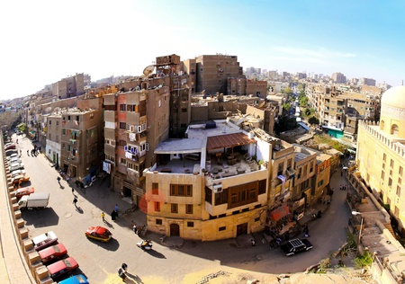 CAIRO, EGYPT - MARCH 3: Cairo neighbourhood on MARCH 3, 2010. Real old neighbourhood streets at sunny day in Cairo, Egypt.  Stock Photo - 8699083