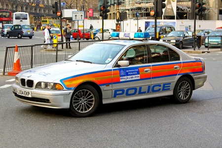 Metropolitan Police BMW in London for editorial use date 3212009