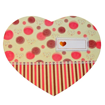 compliment: Heart shaped compliment card