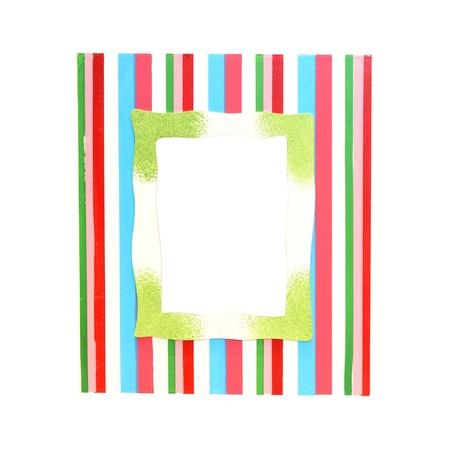 Decorative stripe pattern frame isolated  Stock Photo - 8906040