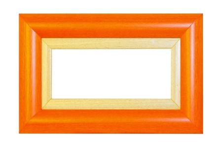 Orange panorama frame isolated Stock Photo - 8966019