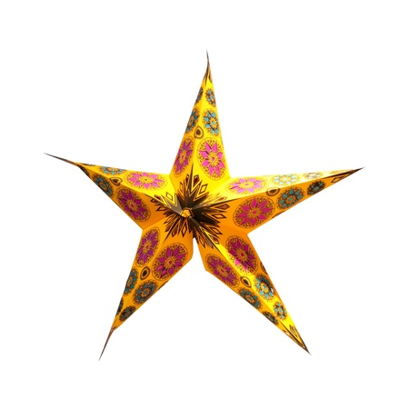 star path: Decorative ornament in a star shape isolated with clipping path included