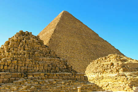 cheops: Pyramid Khufu and old tombs in Egypt