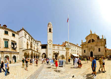 DUBROVNIK, CROATIA - JUNE 13: Main street Stradun in Dubrovnik on JUNE 13, 2010. Old city Dubrovnik is UNESCO World Heritage site.