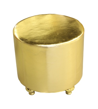 hassock: Gold decorative hassock
