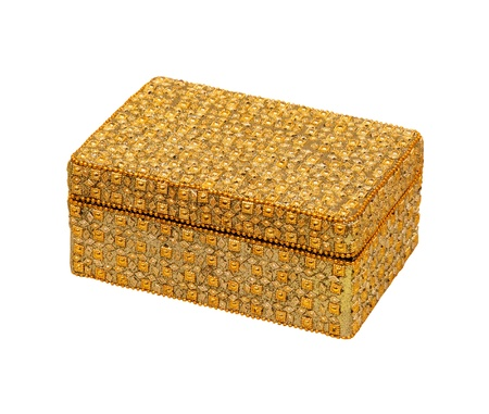 jewellery box: Gold jewellery box