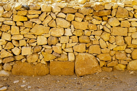 Antique stone walls near pyramids in Egypt  photo