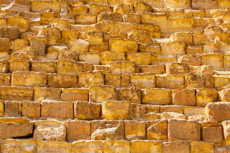 Khufu pyramid in Giza stone block texture  photo