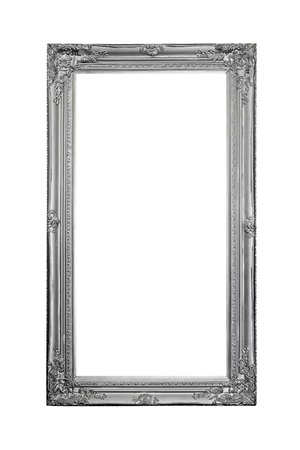 silver: Luxurious silver frame isolated included clipping path