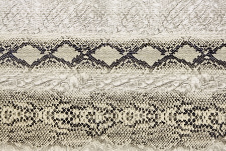 Black and white wild snake skin pattern