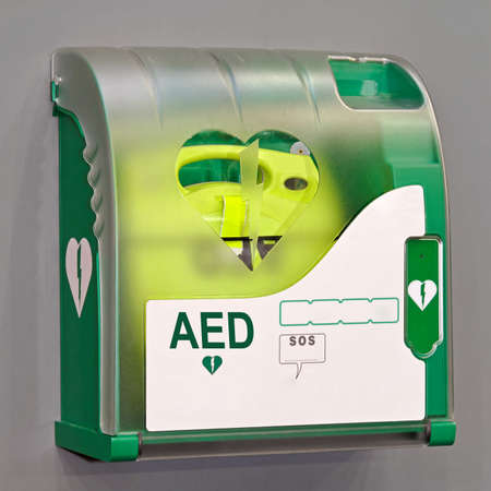 Automated External Defibrillator portable electronic life saver  photo