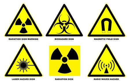biohazard: Ensemble de signes officiels internationaux de d�tresse Illustration