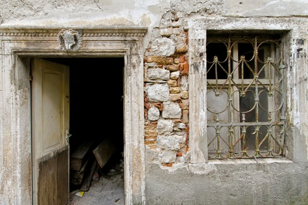 bad condition: Abandoned derelict home in very bad condition