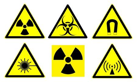 Set of official international hazard warning signs Stock Vector - 9372887