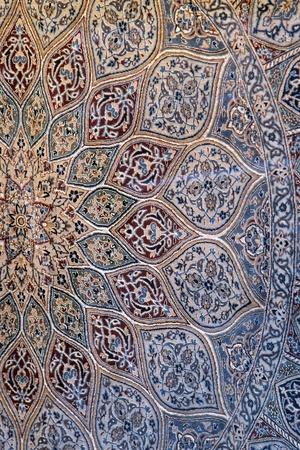 Detail of  fine quality famous Persian carpet  photo
