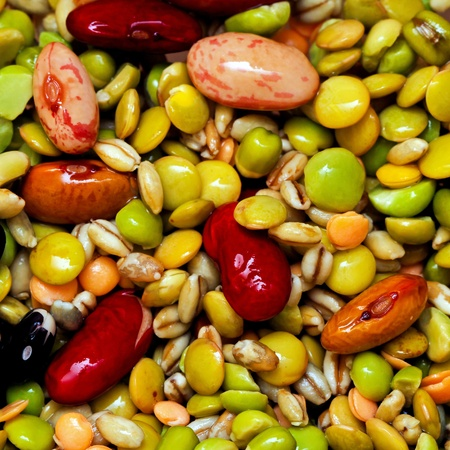All kind of beans and legumes mix  photo