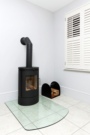 Free standing cast iron wood burning stove  photo