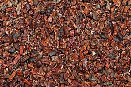 Bunch of raw organic crushed cocoa nibs  Stock Photo - 9551900