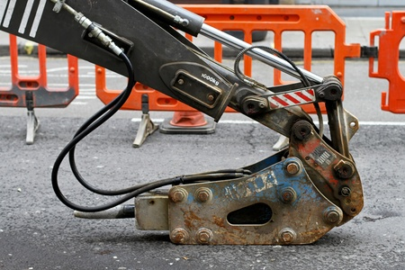 jack tar: Pneumatic jack hummer machine for road construction