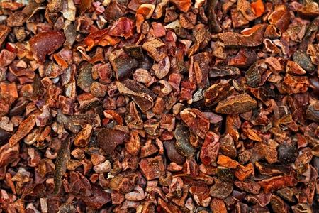 cacao: Mont�n de crudo org�nico triturado Grip cacao