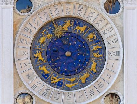 Zodiac clock at San Marco square in Venice  photo