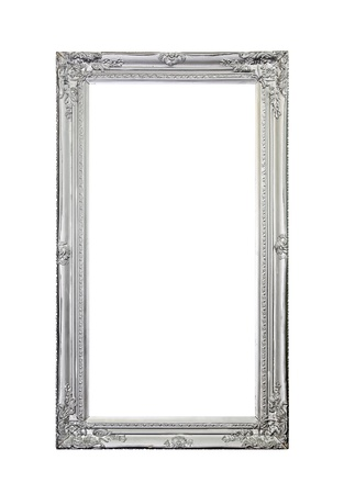 mirror frame: silver mirror frame isolated