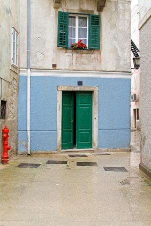 Narrow Mediterranean style street at island Cres  Stock Photo - 10005762