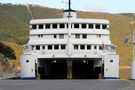 ferryboat: Open door at car garage at ferryboat