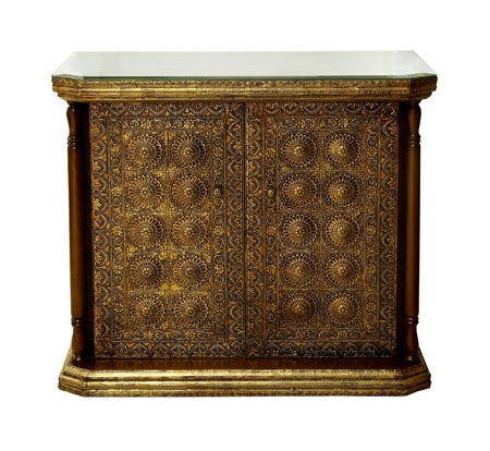 Antique Arabic style dresser isolated  photo