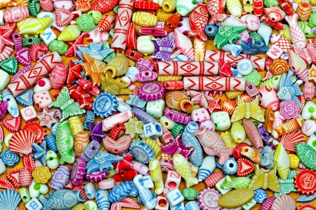 bijoux: Multi colour plastic beads variety assortment background