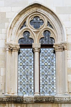 gothic window: Exterior view of gothic style double window