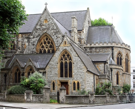 protestant: Local Christian Protestant church in London neighborhood Stock Photo