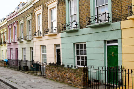 traditional house: Colorful houses in row at Camden Town London