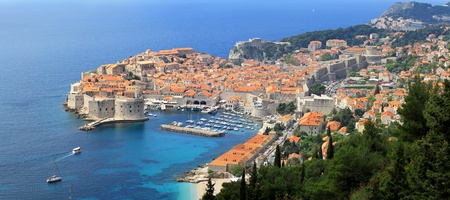 Aerial photo of Dubrovnik  photo