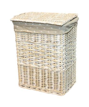 hamper: Rattan laundry basket