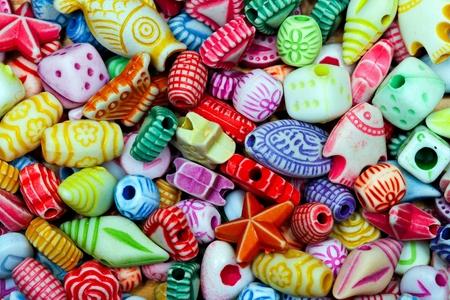 bijoux: Close up shot of multi color beads