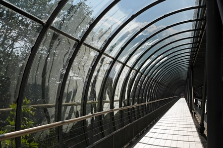 vanish: Pedestrian tunnel with glass and arch structure