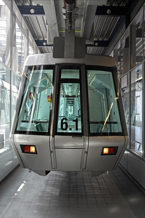 Sky train rolling stock in modern station photo