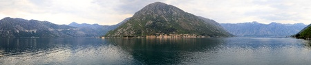 kotor: Bay of Kotor in Montenegro, panorama Stock Photo