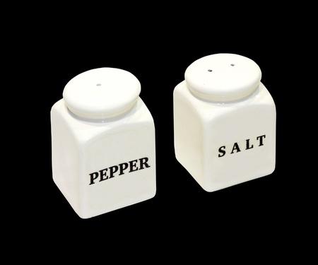 salt pepper: Salt and pepper shakers isolated