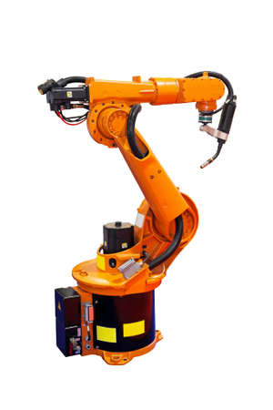 weld: Robotic arm welder isolated included clipping path