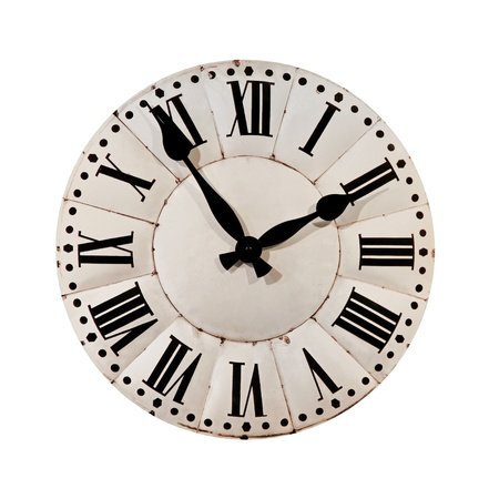 analogs: Retro style clock isolated included clipping path