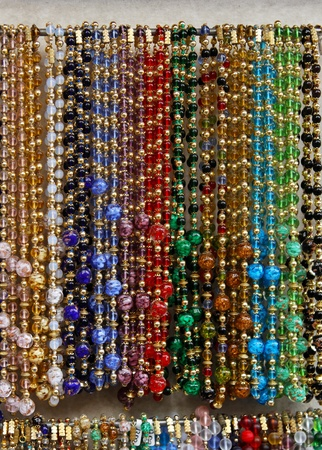 bijoux: Crystal and glass necklaces from Murano Italy