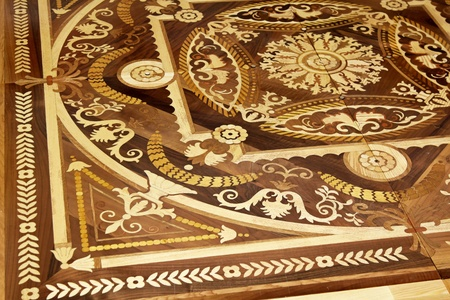 marquetry: Wood marquetry craft decoration at floor parquet