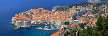 croatia: Cityscape panorama of Dubrovnik  Stock Photo