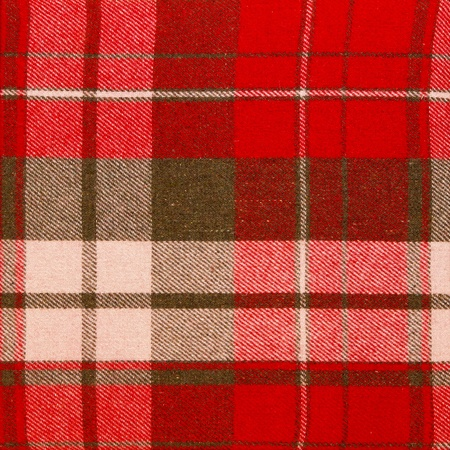 scotish: Traditional Scotish textile with red tartan texture