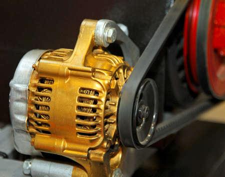 alternator: Golden alternator for electric generator in vehicle