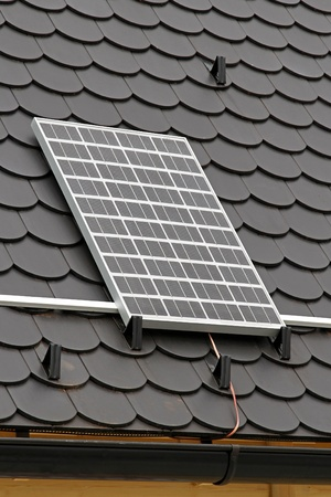 Solar panel at rooftop clean energy from sun Stock Photo - 11233240