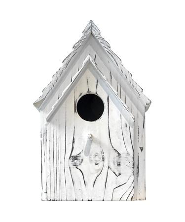 birdhouse: Wooden bird house isolated
