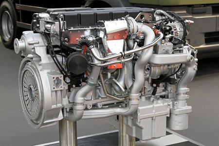 Close up shot of diesel truck engine Stock Photo - 11484774